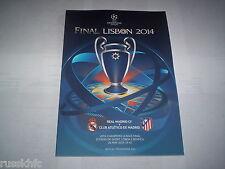 2014 UEFA CHAMPIONS LEAGUE FINAL ATLETICO MADRID V REAL MADRID *PROGRAMME*