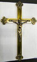 Croce di Cristo Parete Crocifisso 30cm Gesù Corpo Hergott IN Ottone