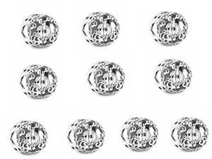 10PCS silver European Charm Pendant Beads for European Bracelet Chain