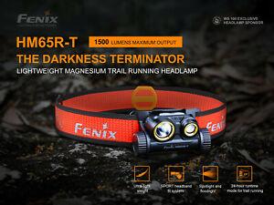FENIX HM65R-T Stirnlampe, Kopflampe Gesamtleistung 1500 Lumen -NEUE VERSION-