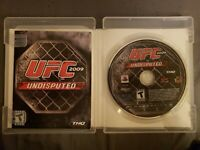 UFC Undisputed 2009 (Sony PlayStation 3, 2009) COMPLETE GAME W/CASE & MANUAL!!!