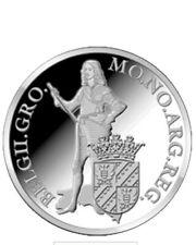 zilveren dukaat 2013 groningen + certificaat + box zilver proof 28,5 gram