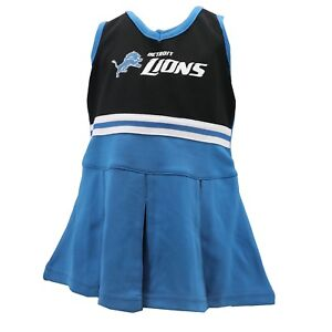 Detroit Lions NFL Toddler Cheerleader Outfit with Bottoms Combo Set New Tags