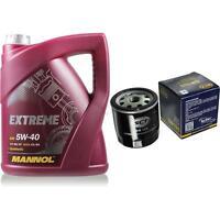 Inspektionspaket 5L MANNOL Extreme 5W-40 + Filter für Opel Meriva F48_ F08_ 1.6