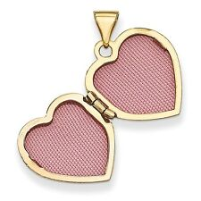 14k Yellow Gold Polished Heart Locket
