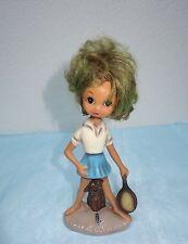 Seltene Cortendorf Keramik Figur, Mädchen mit Tennisschläger, 50er Jahre