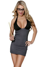 Ladies Sexy Teacher Sexy Secretary Outfit Fancy Dress Costume Size 10/12