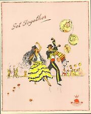 cunard white star line -1946 menu for the queen elizabeth. spanish dancers cover