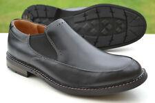 Clarks BNIB Mens Casual Shoes UN ELOTT STEP Black Leather UK 9.5 / 44 RRP £100