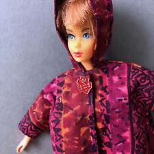 Vintage Barbie Coat Asian Polynesian Hawaiian Print Opera Jacket Hand Made 1960s