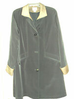 Women's East 5th Size PM Black 3/4 Length Coat with Zip Out Lining