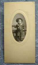 Antique PHOTOGRAPH YOUNG BOY IN SAILOR OUTFIT Post's Studio Denver circa 1905ish