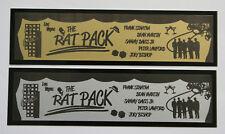 The Rat Pack Sinatra Martin Davis Las Vegas Nameplate for signed photo cd record