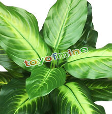 Lifelike 25 Leaves Evergreen Artificial Plant Bush Potted Tree Flower Simulation