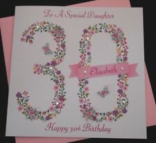 Handmade Birthday Card 16th 18th 21st 30th 40th 50th 70th  personalised any age