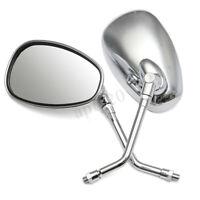 Pair 10mm Motorcycle Bike Rear View Mirror For Honda Kawasaki Rearview Mirrors
