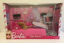 Barbie Glam Bedroom Playset Complete with Doll Bed Bedspread Pillow Acccessories