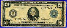 --FR-966* 1914 $20 FRN  (( Rare STAR )) Boston District (( Rare STAR )) A131747*