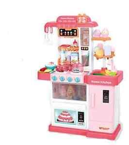 Pretend Kitchen Set  Food Little Chef Kitchen Playset Role Play Kitchen Pink UK