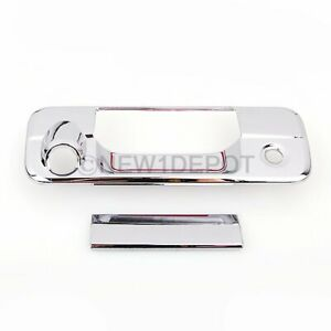 Chrome Tailgate Rear Door Handle Cover W/ Camera Hole For 07-13 Toyota Tundra
