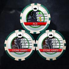 Custom Ace & Stone Harpy Bystander Tokens - Batman The Animated Series Heroclix