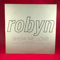 "ROBYN Show Me Love 1997 UK 6-track Double 12"" Promotional Vinyl single EXCELLENT"