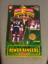 BanDai 1994 Mighty Morphin Power Rangers Billy Blue Ranger Sealed - New On Card
