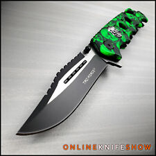 Tactical Green Zombie Skulls Camo Assisted Opening Folding Blade Pocket Knife