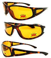 Polarized HD Pilot Sunglasses Night Vision Driving Glasses Yellow Lens UV400