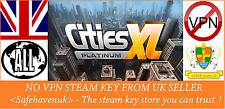 Cities XL Platinum Steam key NO VPN Region Free UK Seller