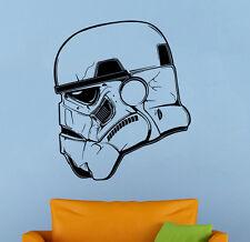 Stormtrooper Helmet Wall Decal Star Wars Vinyl Sticker Wall Art Mural Decor 20sw