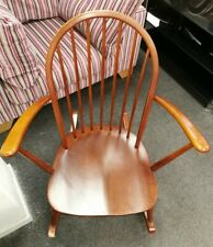 ERCOL Winsor Solid Elm & Beech Low Carver Rocking Chair  - CIS B91