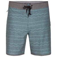 "Hurley Men's Phantom Pismo 18"" Grey Surf Swim Trunks $65 Board Shorts B37"