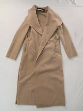 Boohoo Women's Kate Belted Shawl Collar Coat Camel GG8 One Size