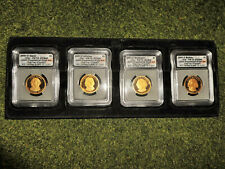 2007 PR70 ICG DCAM 4-Coin Presidential Dollar Proof Set - First Day of Issue