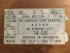 The Cure Concert Ticket Stub 7/2/96 Worcester Ma Wild Mood Swings Tour