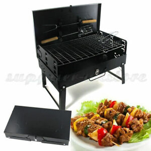 Portable Folding Charcoal BBQ Barbecue Grill Picnic Camping Garden Outdoor Stove