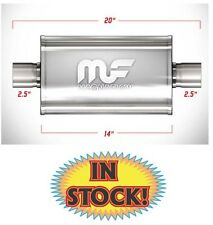 """Magnaflow 14216 - Oval Muffler - 2-1/2"""" Polished Stainless"""