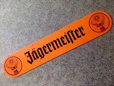 """seltenes oranges Jägermeister  Kunststoff Werbeschild mit """" Rudi """" ca. 90cm lang"""