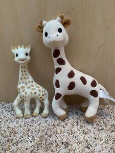 Sophie the Giraffe plush rattle & squeaker teething toy set