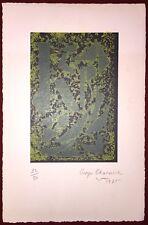 Charaire Goerges gravure signée art abstrait Théâtre du Tertre Montmartre Paris