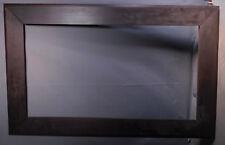 BIG Antique Arts Crafts Mission Picture Frame 18x33not PLAIN Dark Wood 1910 KIT