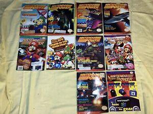 Nintendo Power Magazine lot ~1990's ~ 9 issues plus Super Mario Players Guide