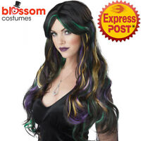 W570 Bewitching Streaked Long Goth Wig Halloween Witch Costume Hair Accessory