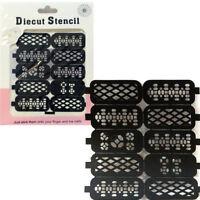 Stencil Geometry nail art stickers adesivo decorazione unghie unghia manicure