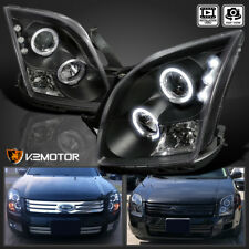 2006-2009 Ford Fusion Black Halo Projector LED DRL Headlights LH RH