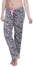Betty Boop Licensed Womens Plush Fleece Lounge Pajama Sleep Pants Zebra M
