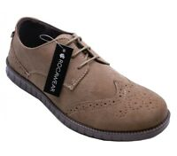 Men Brown Smart Brogue Formal Casual Dress Leather Lace Italian Style Shoe Size