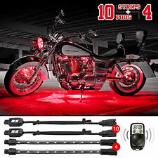 84 Led 14Pc Remote Control Motorcycle Car Atv Boat Glow Neon Lighting Kit - Red