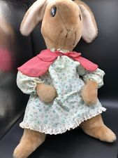 "Vintage Eden Beatrix Potter Mrs Rabbit 17"" Stuffed Plush Toy  Dress"